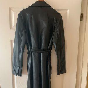 Zara Vegan leather full length coat